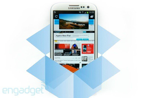 samsung galaxy s3 50 GB dropbox
