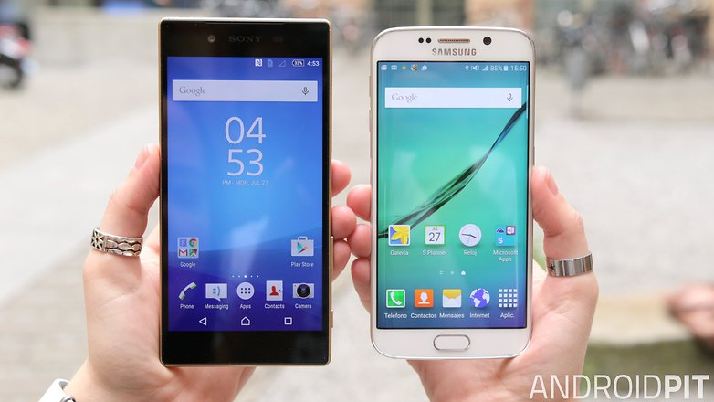 sony xperia z5 vs samsung galaxy s6 edge screen