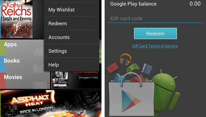 Les cartes-cadeaux, ça arrive sur Google Play? L'APK dit oui!