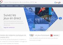 Google lance un site dédié aux Jeux Olympiques 2012