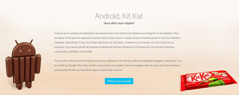 Android Kitkat FR