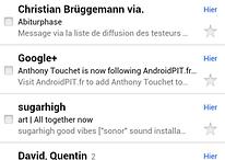 Gmail : nouveau design pour la version web mobile