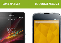 Fiche technique : Sony Xperia Z vs Nexus 4