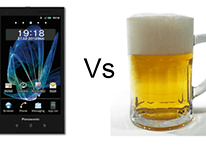 The Panasonic Eluga vs. Beer