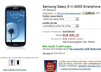 Black 64GB Samsung Galaxy S3 Now Available Online With A Big Price Tag