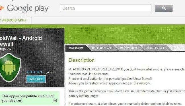 DroidWall : LE firewall Android pour votre appareil rooté