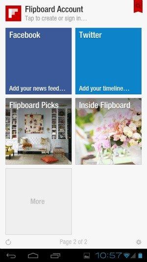 screenshot di Flipboard per Android