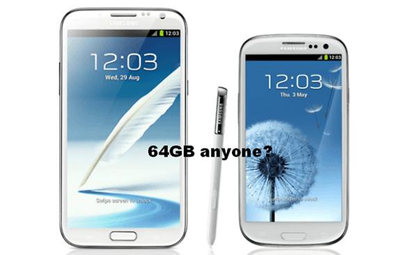 Tipp Galaxy S3 Und Note 2 Auf 64 Gb Internen Speicher