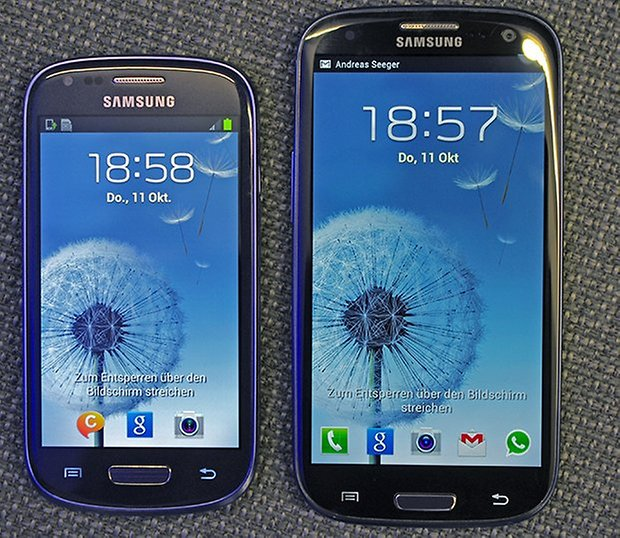 samsung galaxy s3 mini. the galaxy s3 mini and its 4 inch display is significantly smaller than 4.8 screen. samsung