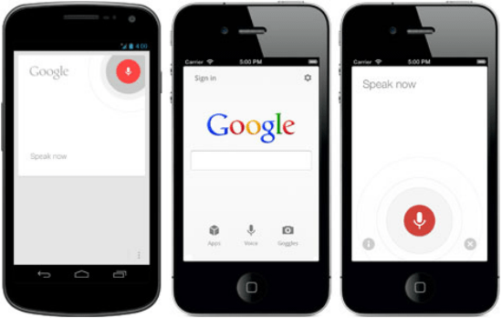 voice search iphone