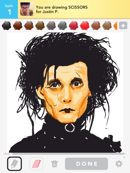 Draw Something Edward aux mains d argent