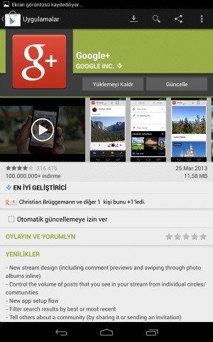 GooglePlus Guncelleme