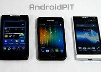 Comparatif : Samsung Galaxy S2, Sony Xperia S, Motorola RAZR