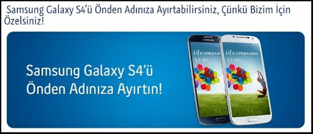 S4 Turkcell siparis