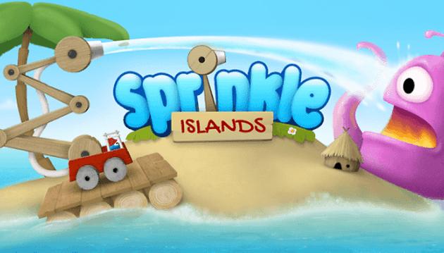 Sprinkle Islands: Little Blue Firemen kickin' fires butt