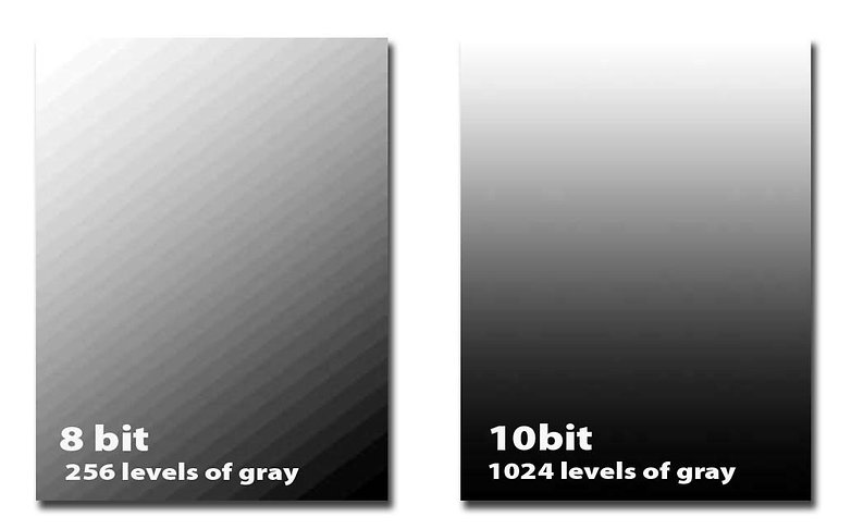 8 bit vs 10 bits comparison hdr