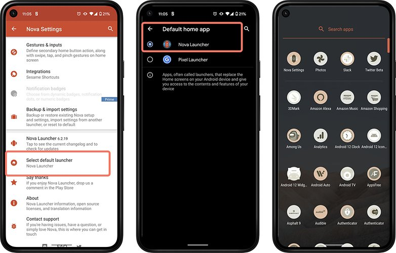 Android 12-Launcher