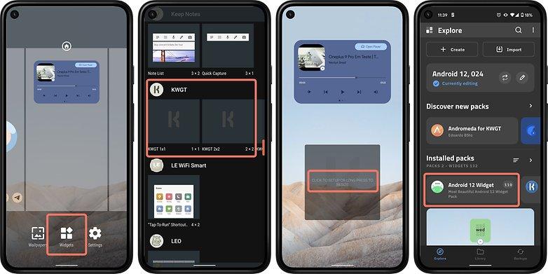 Android 12 KWGT-Setup-Widgets
