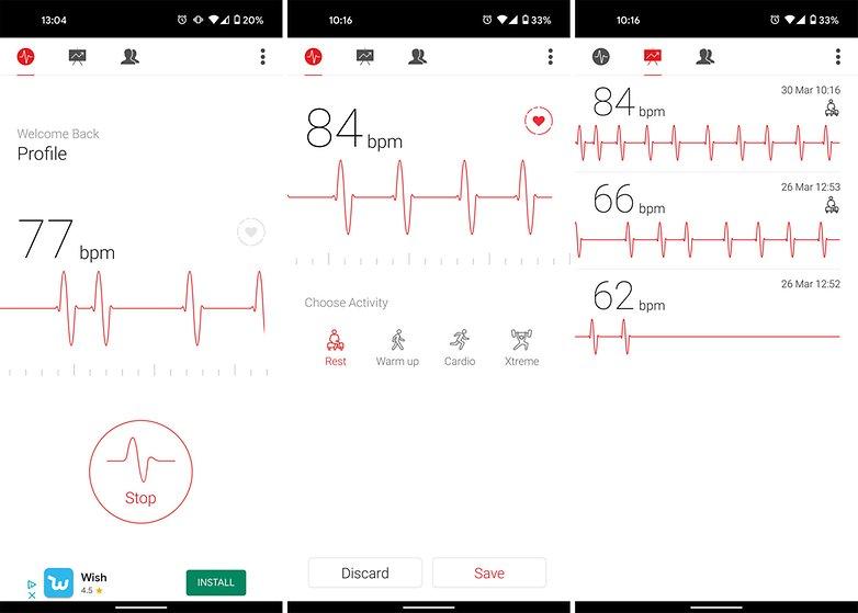 Aplicación de cardiografía