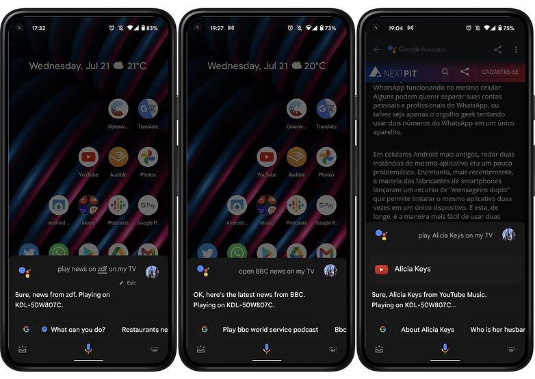 Noticias sobre los comandos de voz de Google Assistant TV