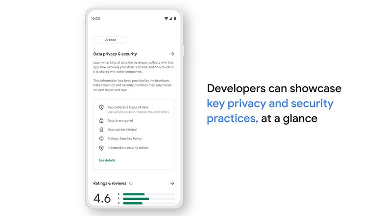 Google play store सुरक्षा अनुभाग 1