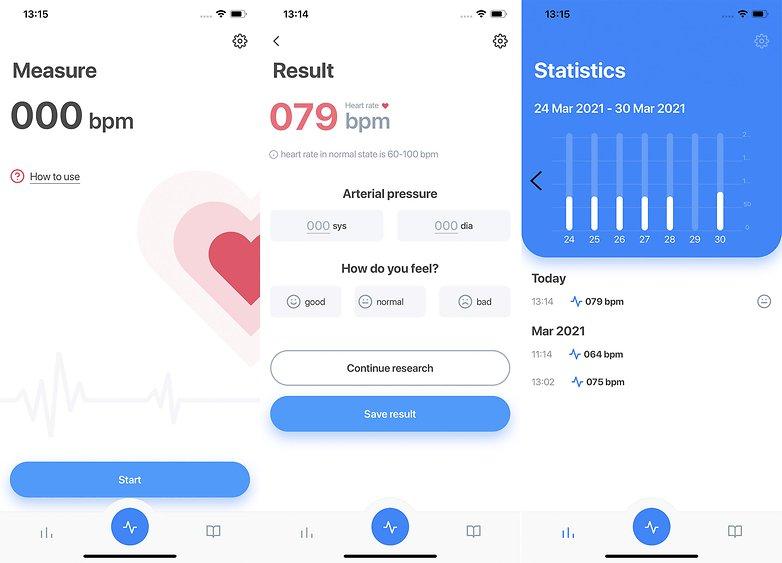 Aplicación de frecuencia cardíaca iOS Apple