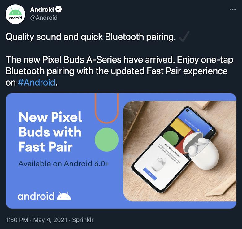 Pixel Buds A serial tweet