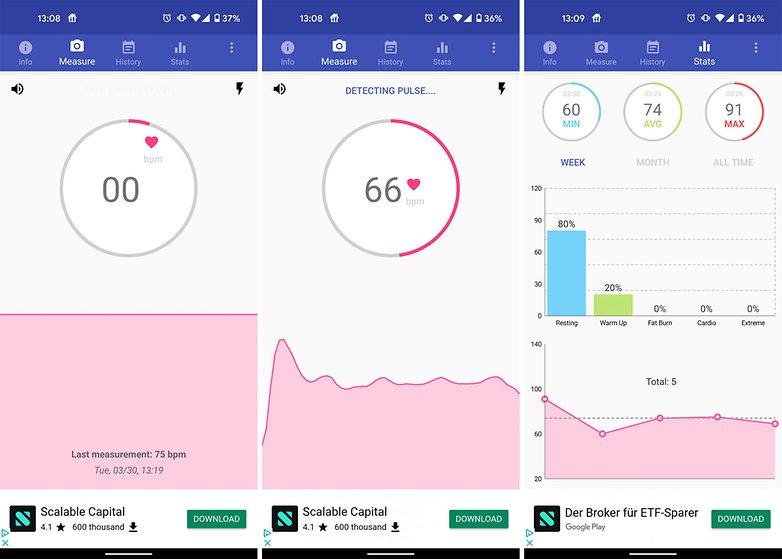 aplicación android monitor de frecuencia cardíaca