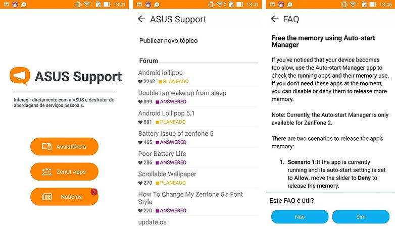 Asus support app zenUI