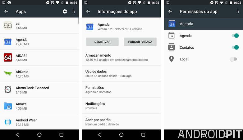 permissoes apps marshmallow