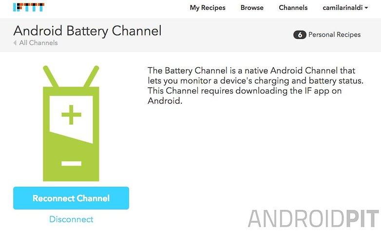 IFTTT bateria site