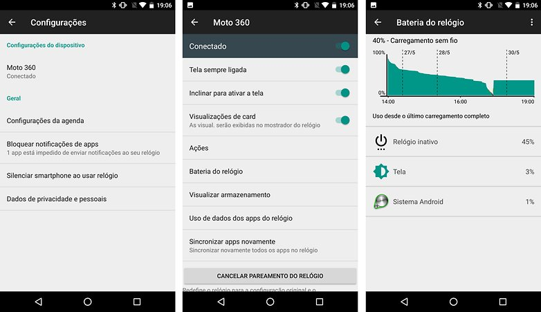 android wear smartwatch dicas truques bateria