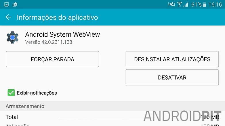 atualizacao webview app