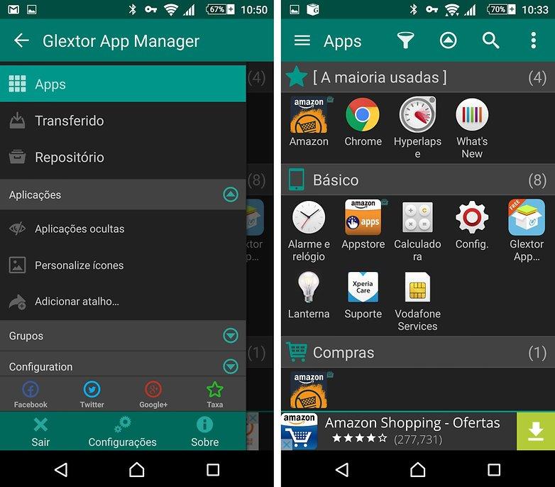 glextor app manager teste