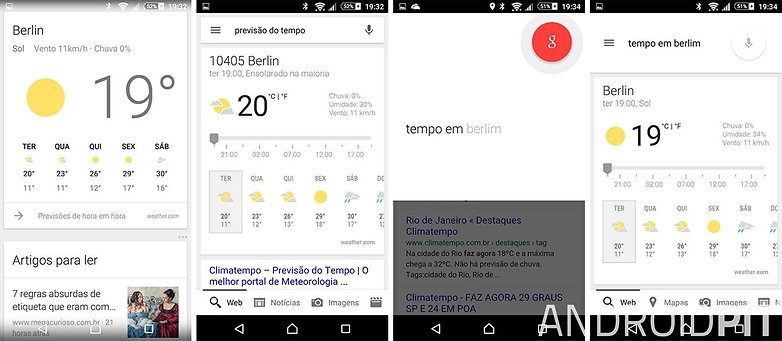 google now clima previsao do tempo