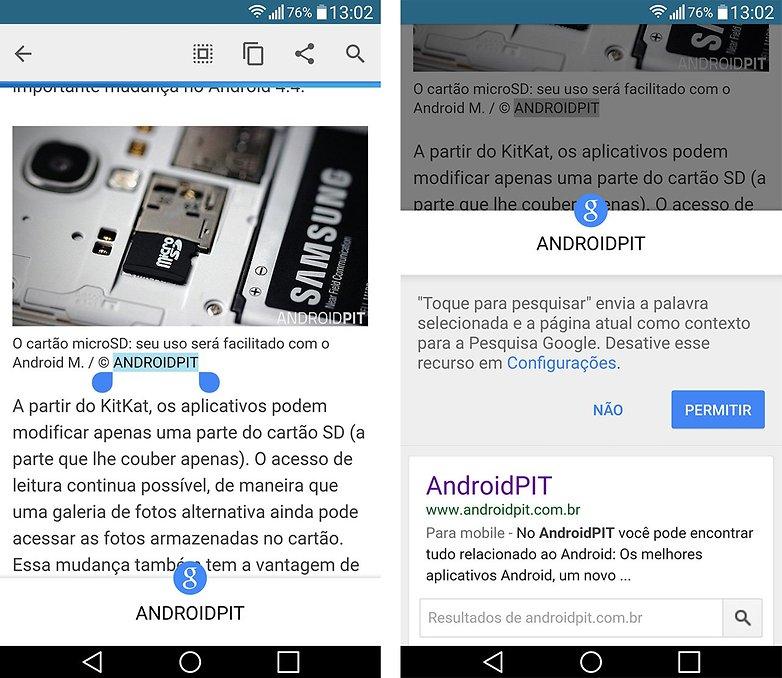 google now toque para pesquisar