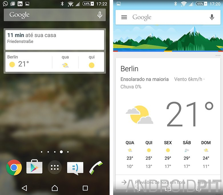 google now widget tempo