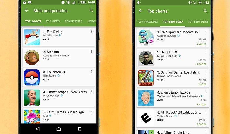 google play store update tamanho app