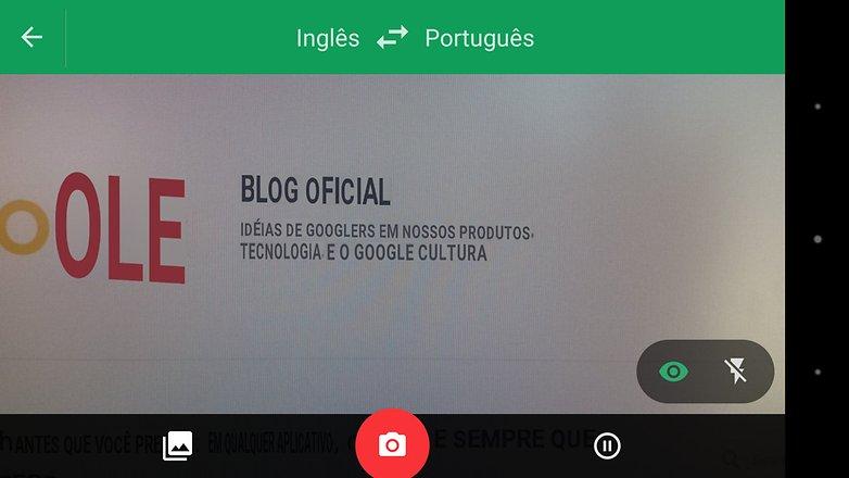 google tradutor camera traducao