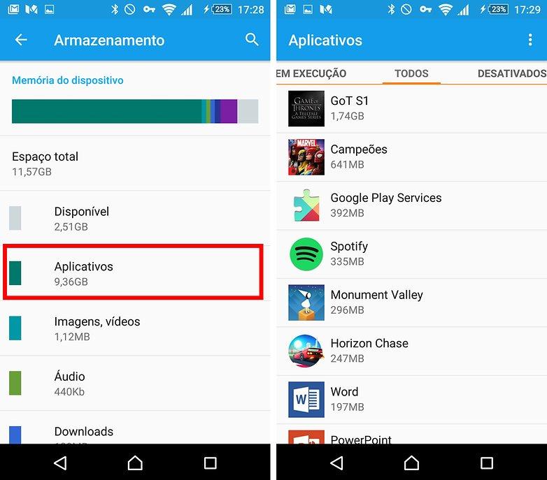 memoria apps android