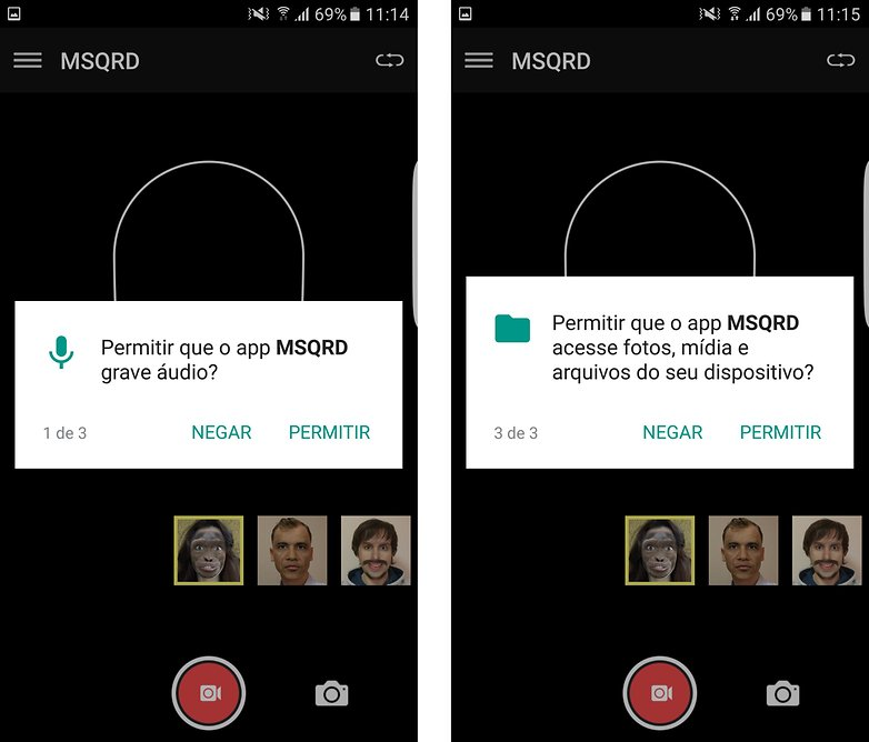 msqrd beta android bra permissoes