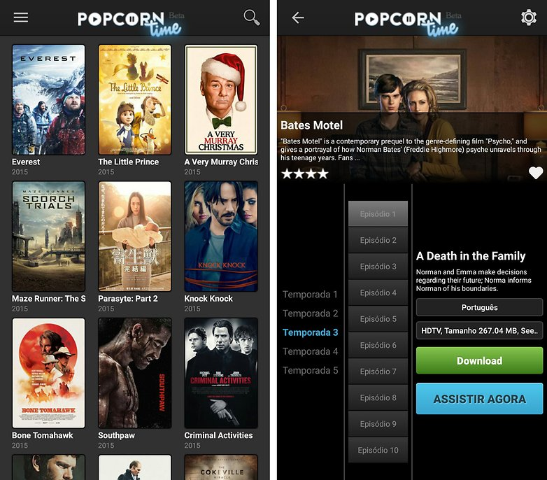 popcorn time app android ui