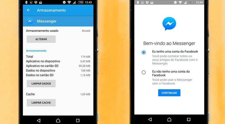 sair facebook messenger
