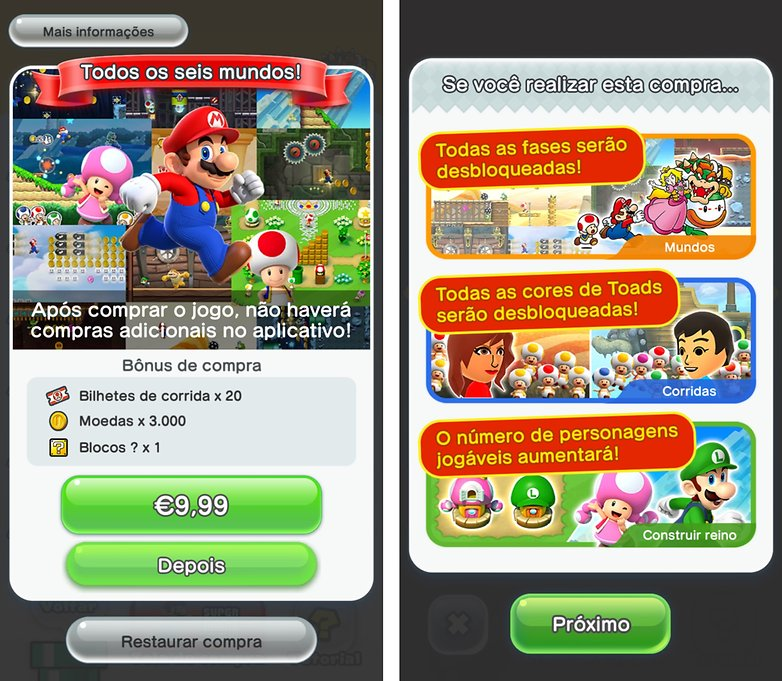 super mario run pagamento