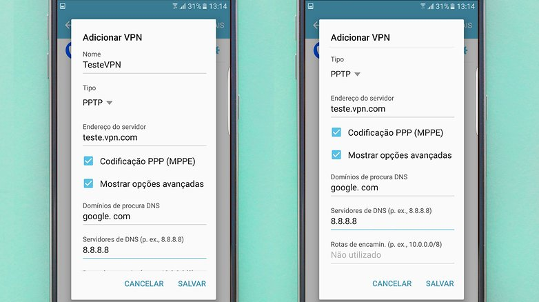 vpn configuracao manual