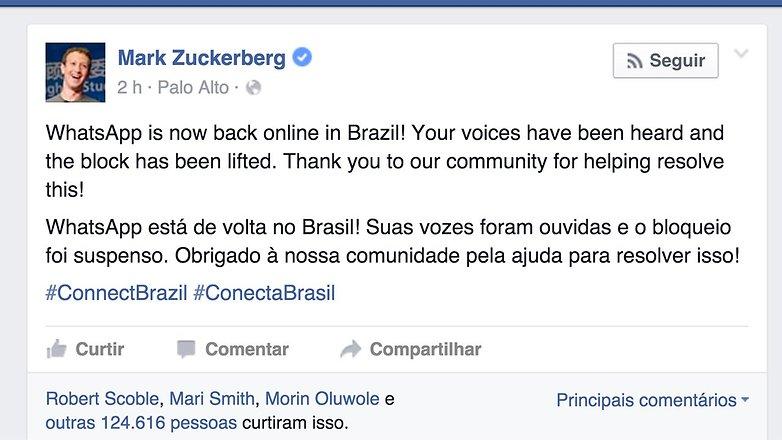 whatsapp brasil facebook