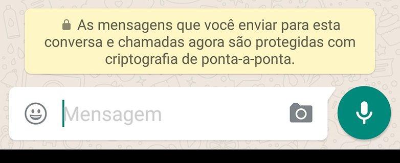whatsapp criptografia mensagem