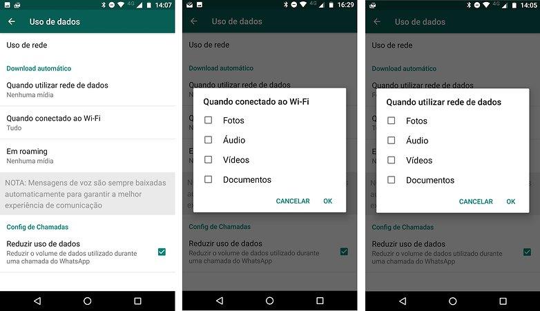 whatsapp dados uso