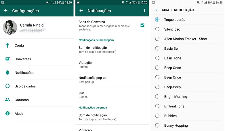 whatsapp tom notificacoes
