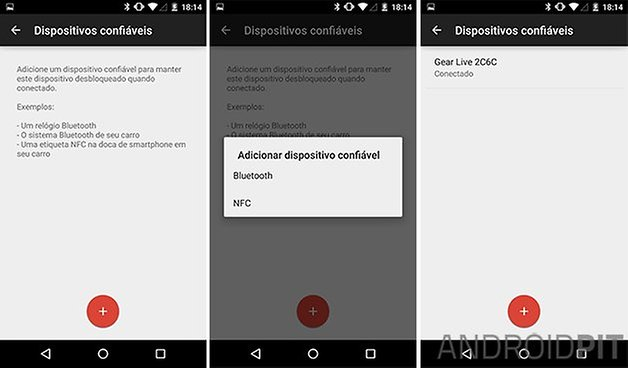 Android smart lock dispositivos confiaveis